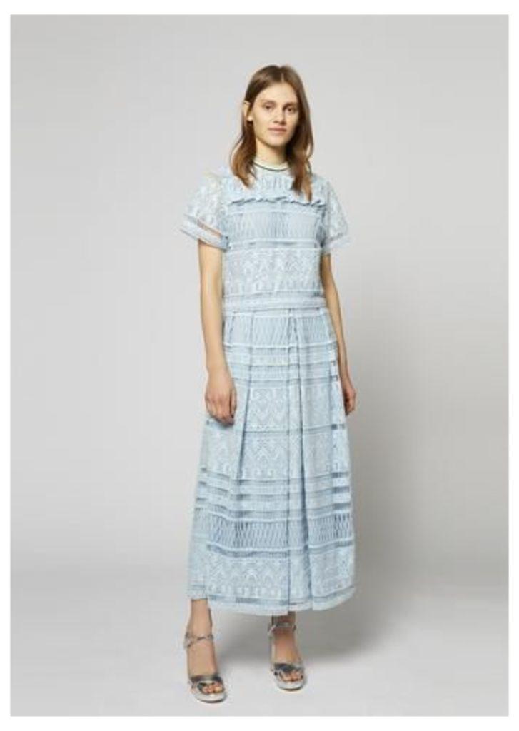 Heart Lace Floor Length Dirndl Skirt