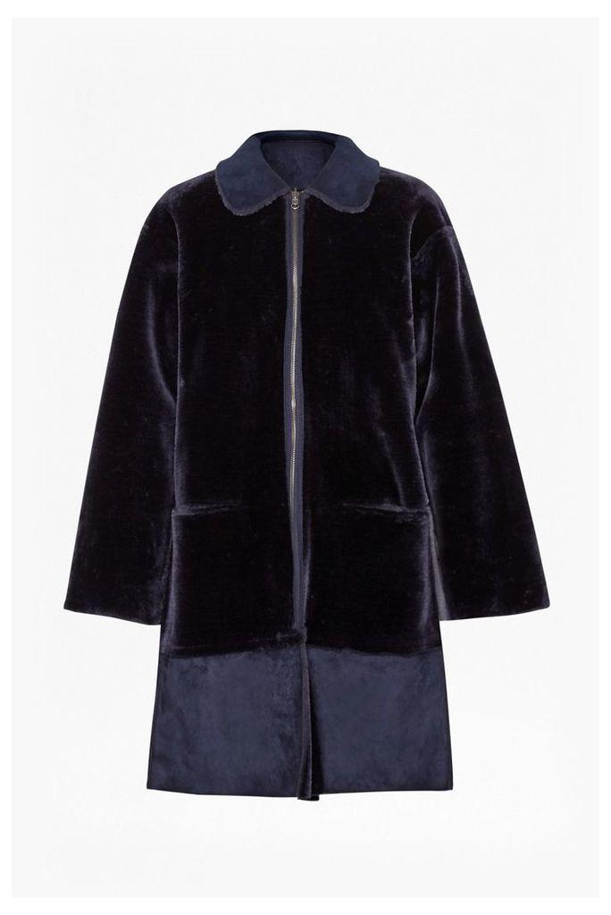 Aspen Reversible Faux Shearling Coat