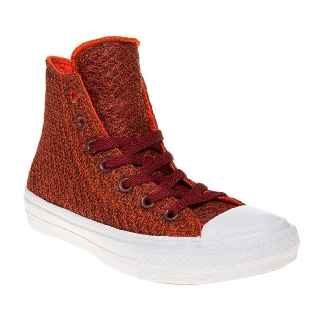 Converse Chuck Taylor All Star II High Trainers, Signal Red/White