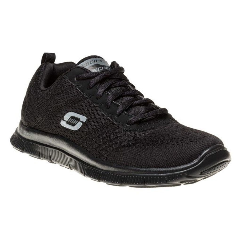 Skechers Flex Appeal Obvious Choice Trainers, Black