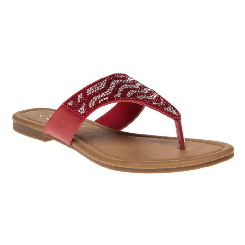 SOLESISTER Brooke Sandals, Red