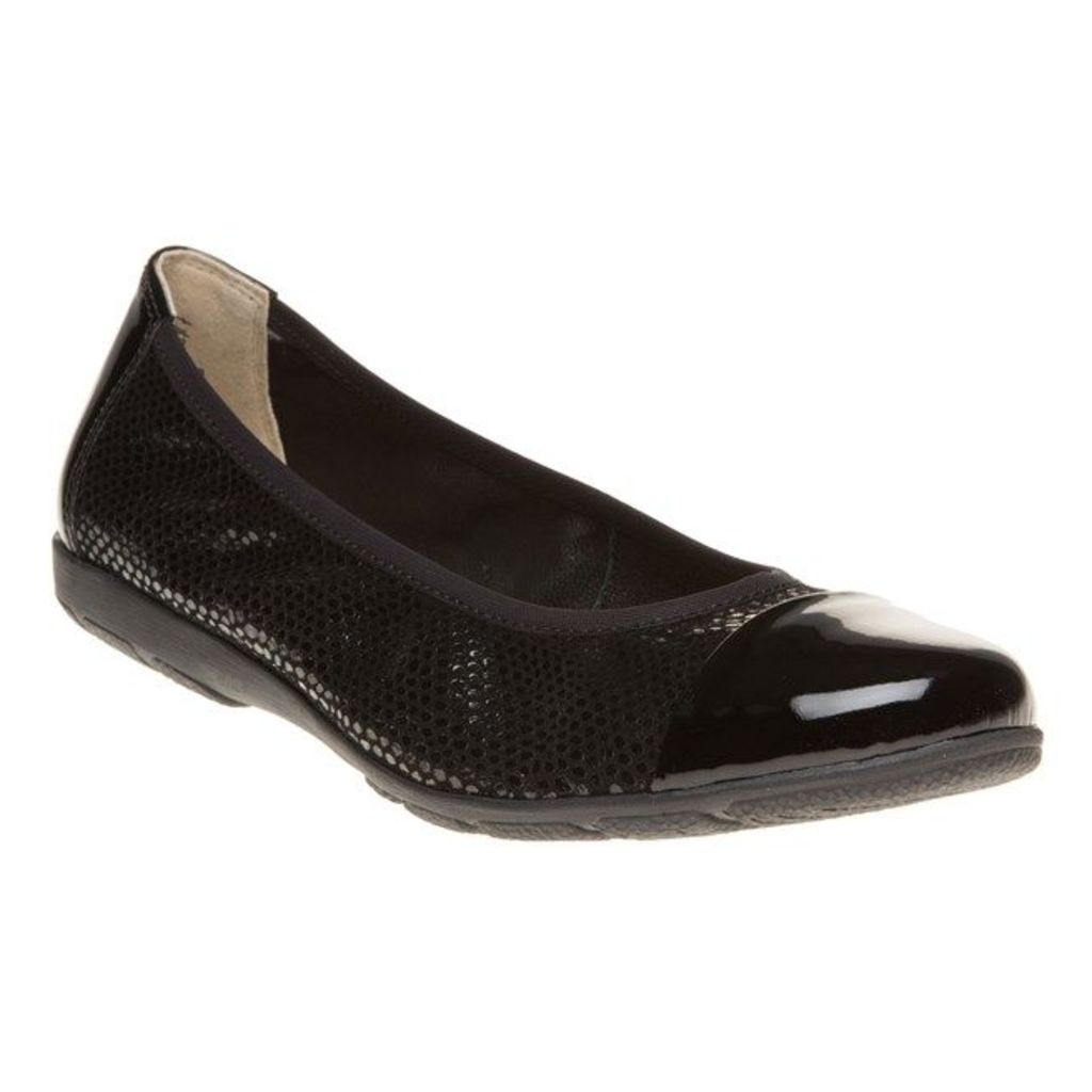 Caprice 22152 Shoes, Black Reptile