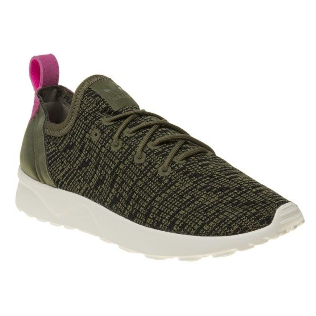 adidas Zx Flux Adv Virtue Trainers, Olive Cargo/Black/Shock Pink