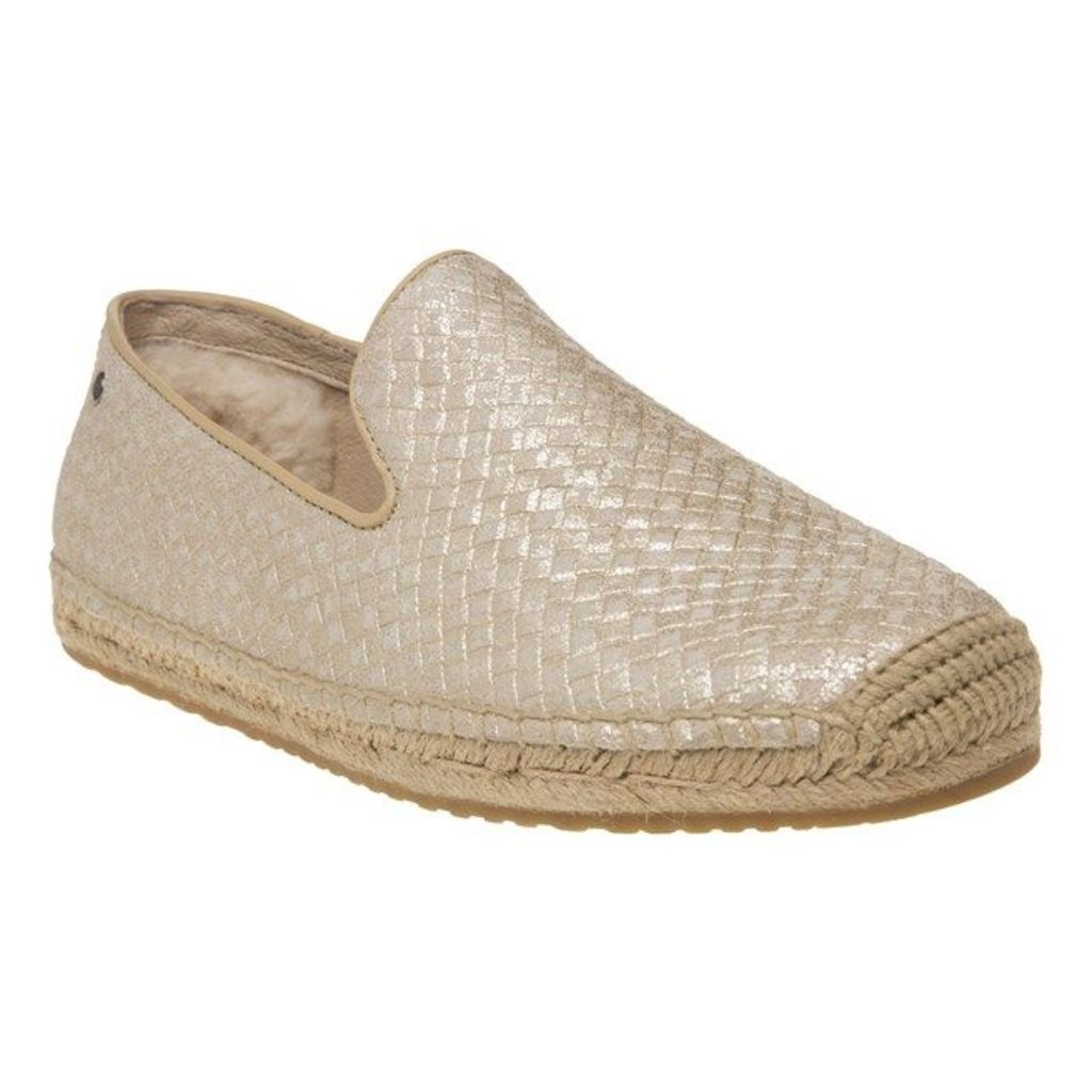 UGG® Australia Sandrinne Metallic Basket Shoes, Soft Gold