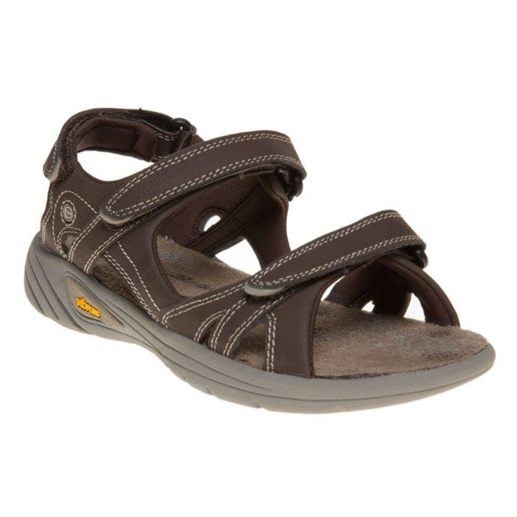Hi-Tec V-Lite Walk-Lite Sandals, Chocolate/Light Taupe