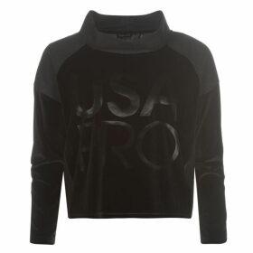 USA Pro Velour Cropped Cowl Sweatshirt