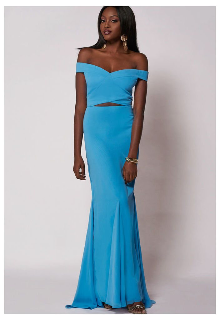 Virgos Lounge Dominic Maxi Dress In Powder Blue