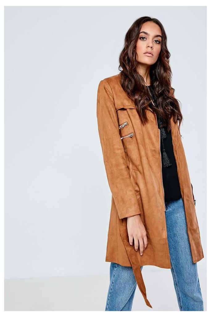 JCL Suedette Long Coat