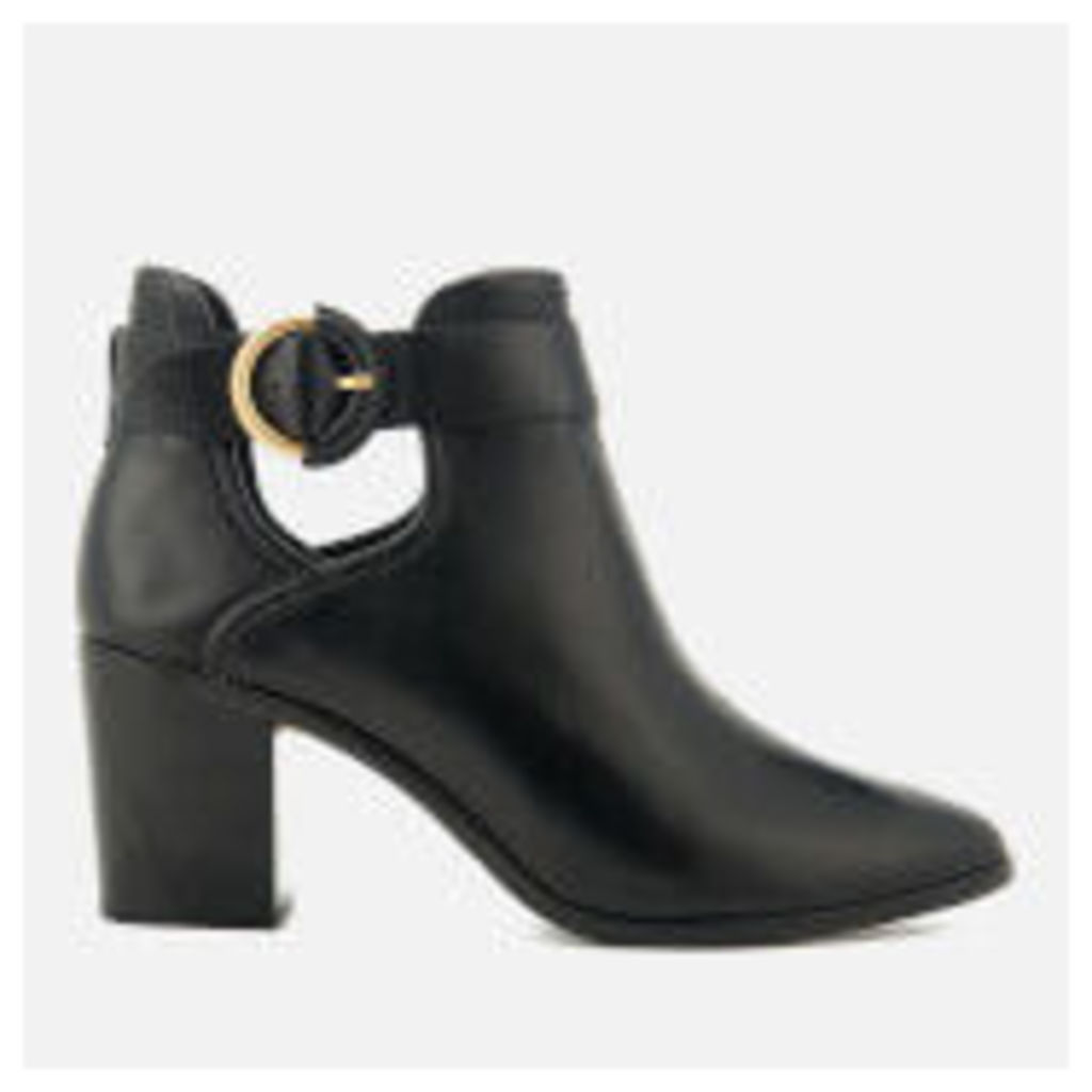 Ted Baker Women's Sybell Leather Heeled Ankle Boots - Black