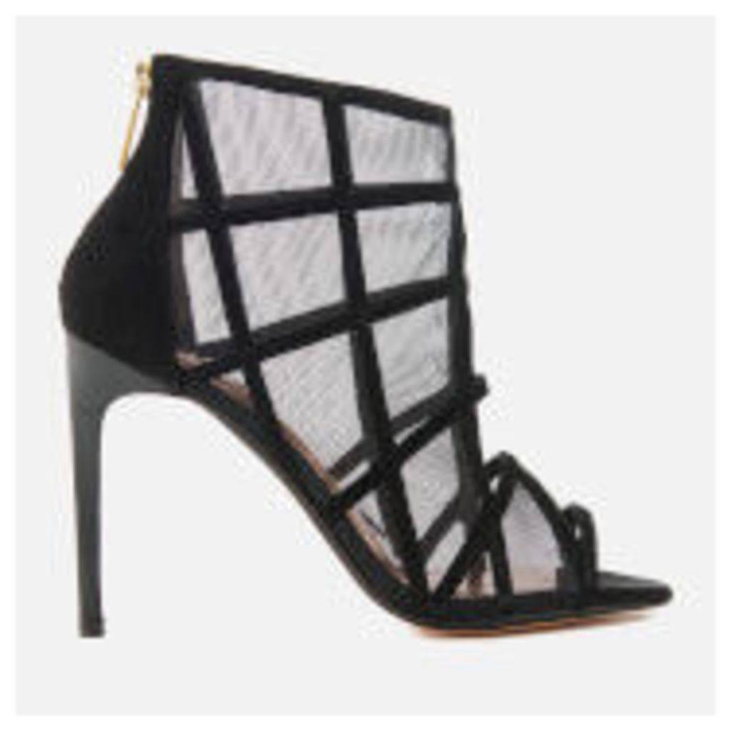 Ted Baker Women's Xstal Suede/Patent Caged Heeled Sandals - Black