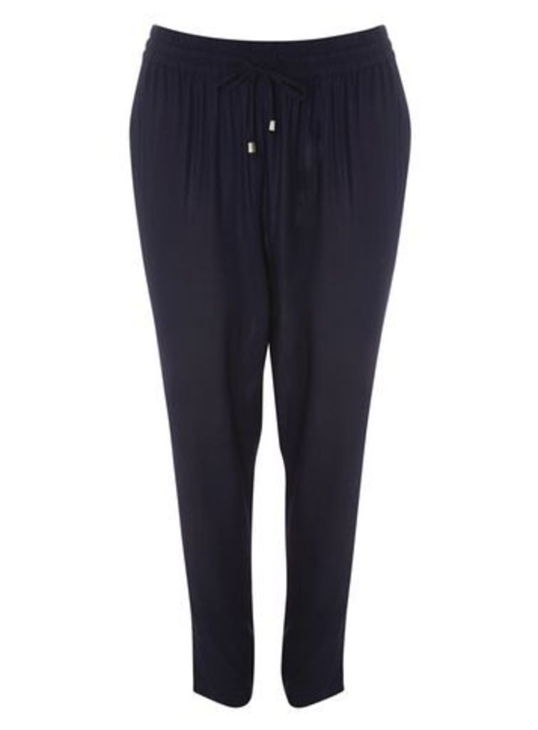 Navy Blue Tapered Trousers, Navy