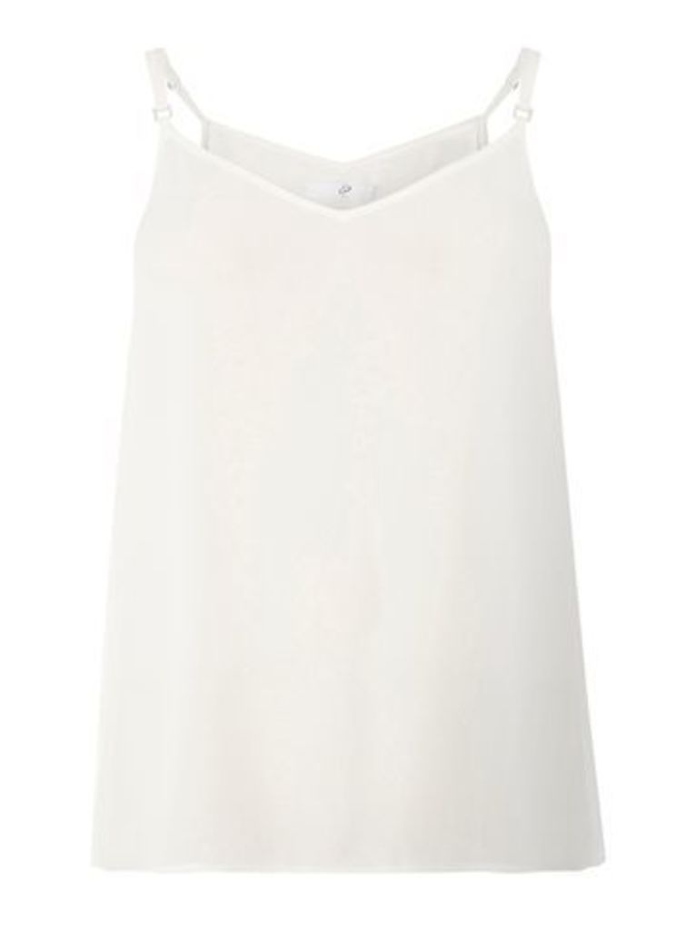 Ivory Strappy Camisole Top, White