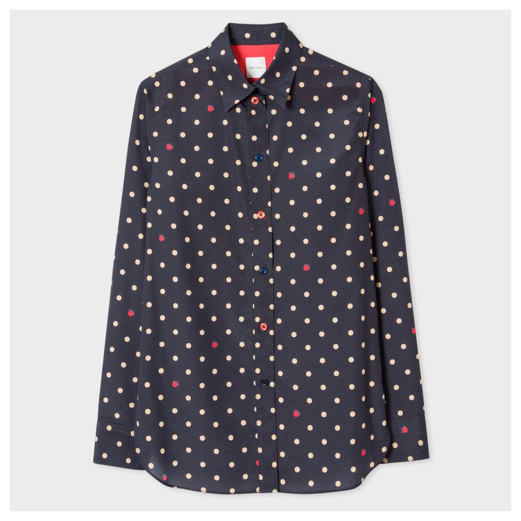 Women's Navy 'Polka Dot Signature' Shirt