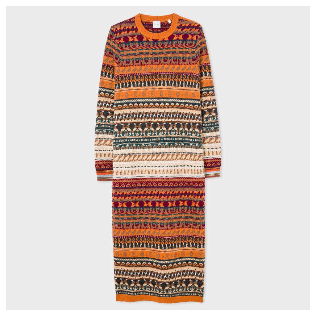 Women's Fair Isle Knitted Wool Dress