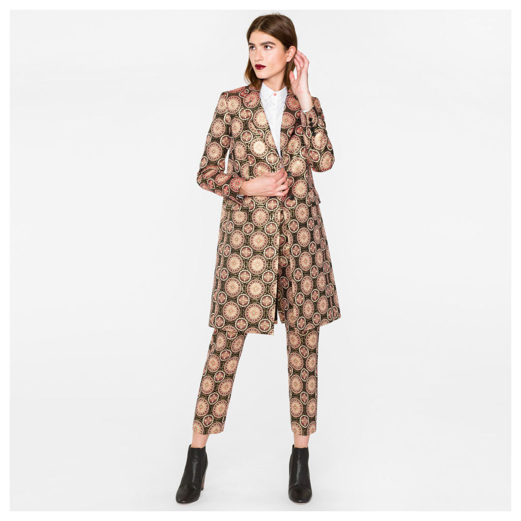 Women's Pink And Gold 'Tapestry' Jacquard Epsom Coat