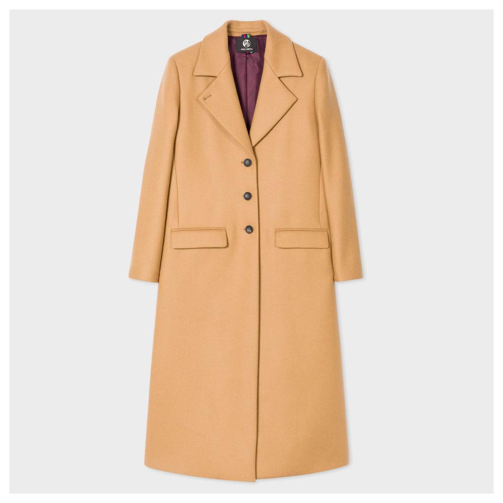 Women's Camel Wool-Cashmere Long Epsom Coat