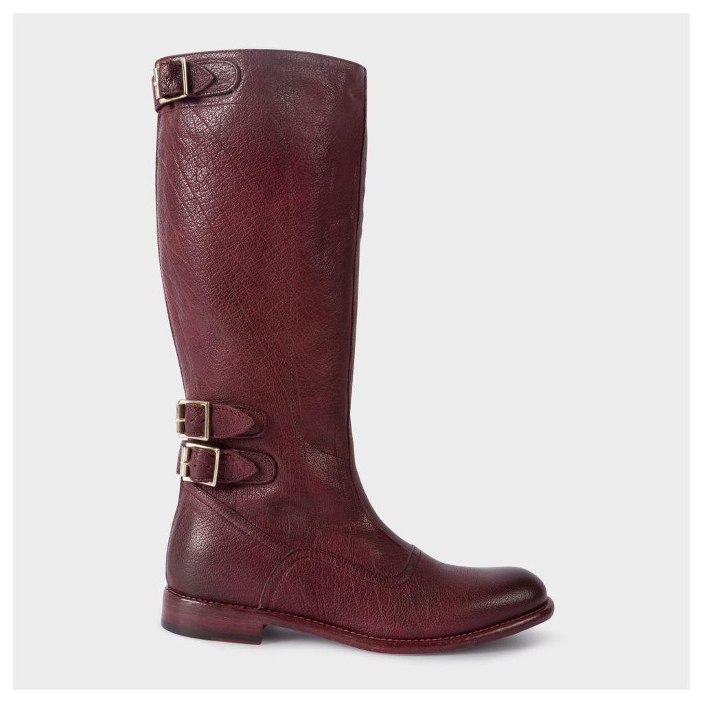 Women's Bordeaux Leather 'Kings' Boots