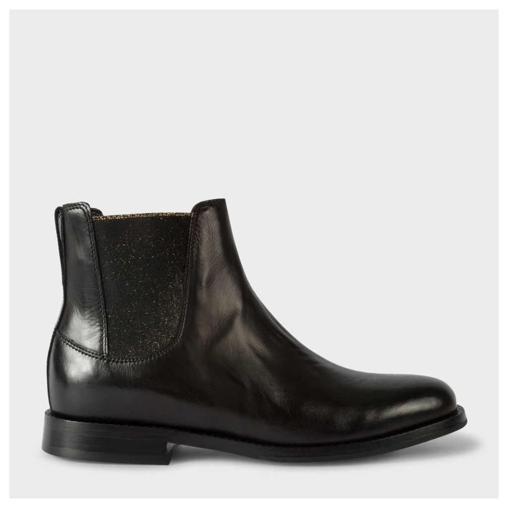 Women's Black Calf Leather 'Camaro' Chelsea Boots