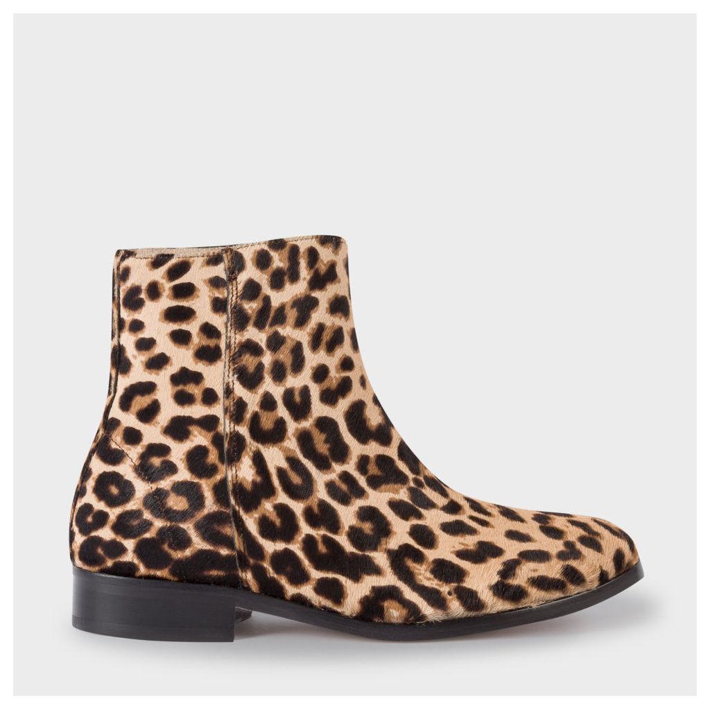 Women's Leopard Print Calf Hair 'Brooklyn' Boots