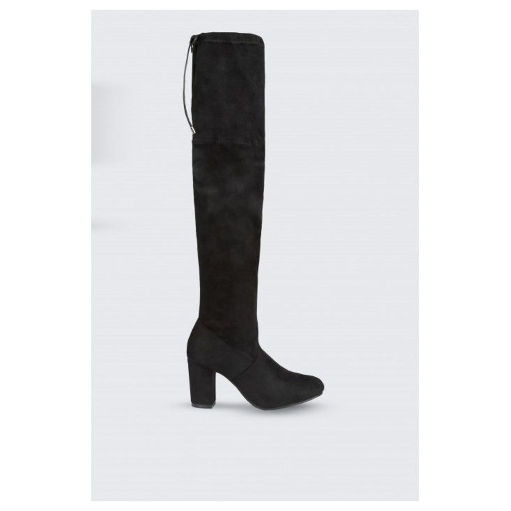 BLOCK STRETCH LONG BOOTS