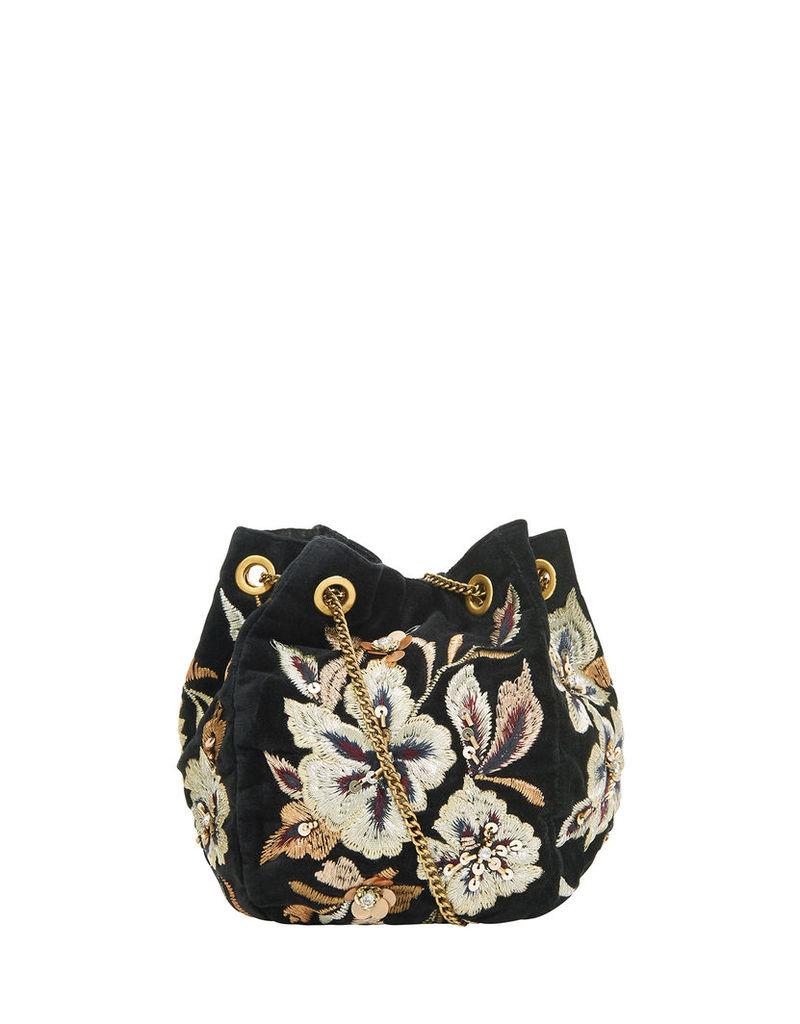 Carmela Velvet Duffle Bag