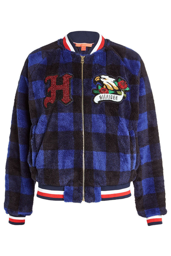 Hilfiger Collection Bomber Jacket with Appliqu ©s
