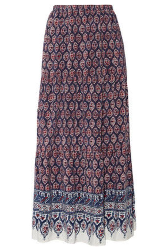 Joie - Gurita B Printed Silk-voile Maxi Skirt - Blue