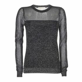 MICHAEL Michael Kors  METALLIC CREW  women's Sweater in Black