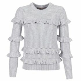 MICHAEL Michael Kors  RIB RUFFLE  women's Sweater in Grey