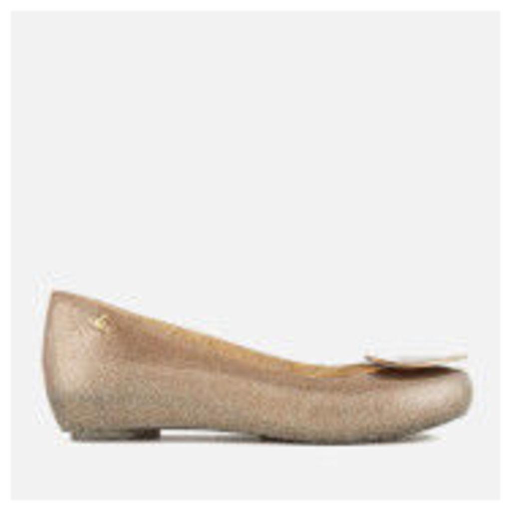 Vivienne Westwood for Melissa Women's Ultragirl 18 Ballet Flats - Sunkiss Love - UK 5 - Gold