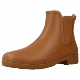 Hunter  ORIGINAL REFINED  women's Low Ankle Boots in Brown