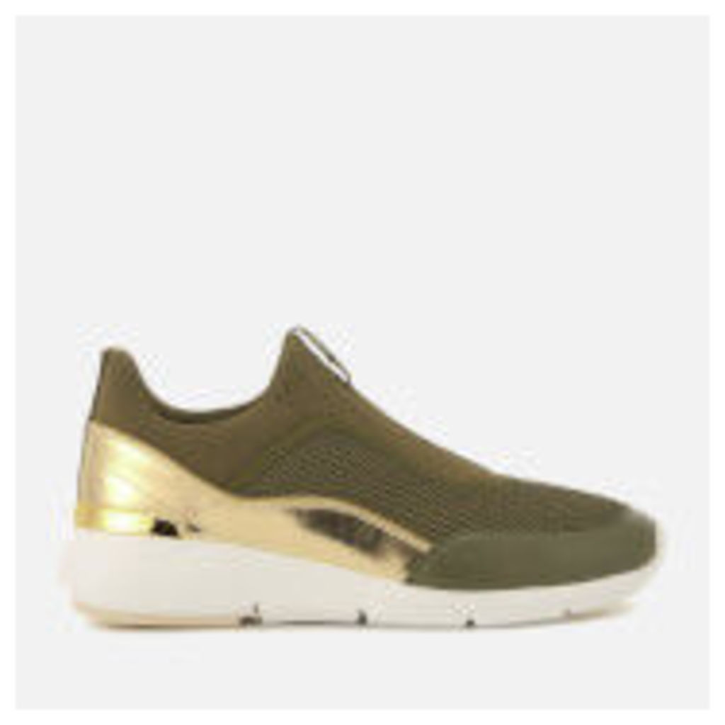 MICHAEL MICHAEL KORS Women's Ace Low Top Trainers - Olive/Gold