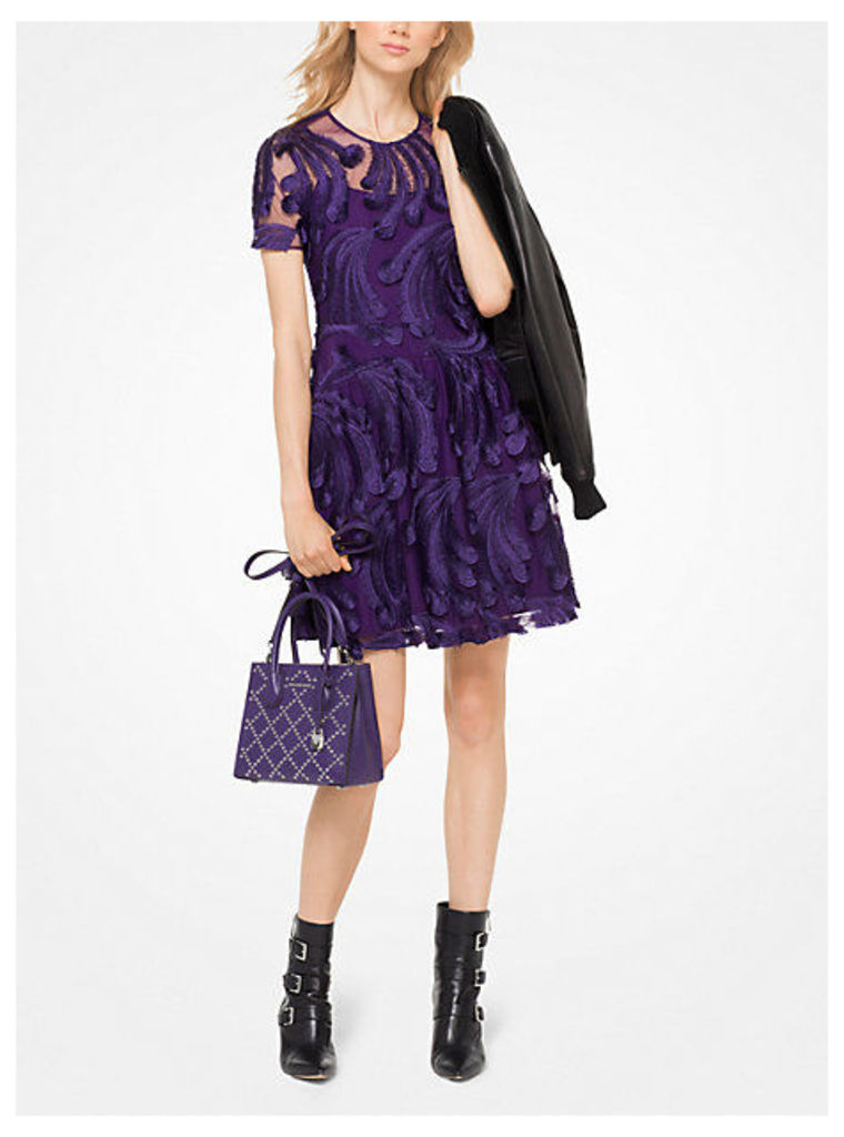 Feather-Embroidered Dress