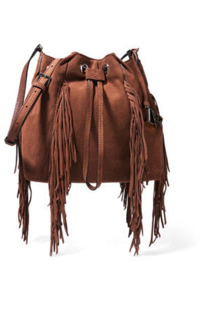 Diane von Furstenberg - Voyage Boho Fringed Suede Bucket Bag - Light brown