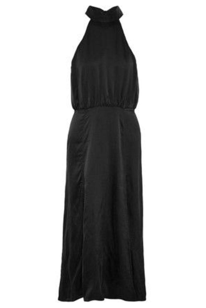 Zimmermann - Open-back Washed-silk Midi Dress - Black