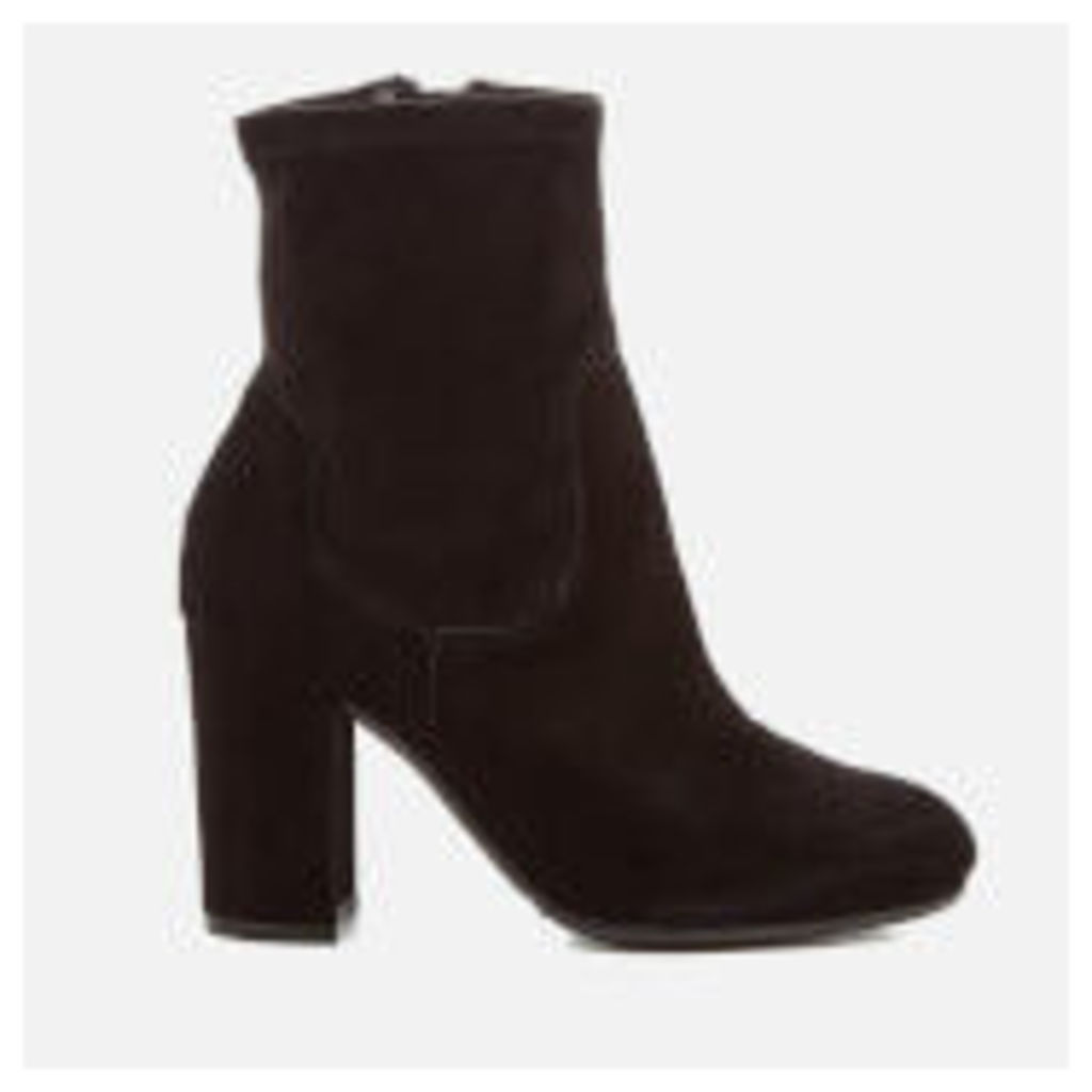 Dune Women's Oakes Suede Heeled Sock Boots - Black