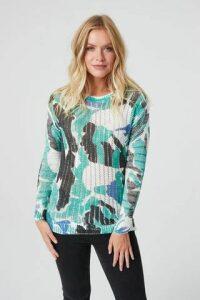 Camo Print Knit Jumper