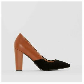Two-Tone Leather Court Shoes