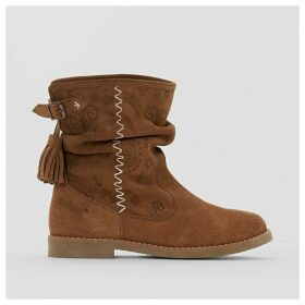 Betina Embroidered Suede Boots