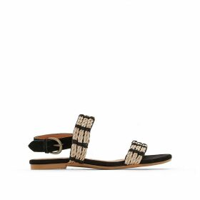 Flat Sandals with Rope Detail
