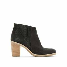 Melody High-Heeled Leather Ankle Boots