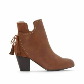 Wide-Fit Two-Tone Heeled Boots
