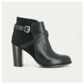Delaila Leather Ankle Boots