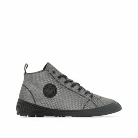 Rocker Leather High Ankle Trainers