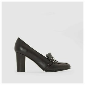 Heeled Leather Loafers