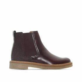 Oxfordchic Leather Ankle Boots