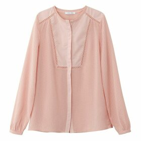 Dotted Blouse with Round Neck