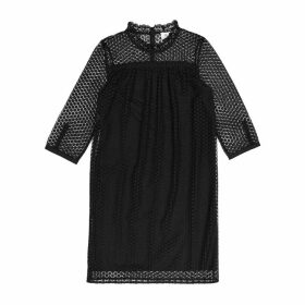 Lace Dress with 3/4-Length Sleeves