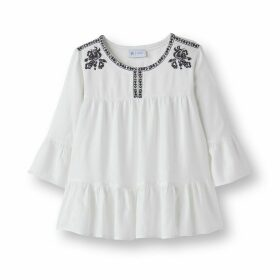 Cotton Mix Folk Blouse