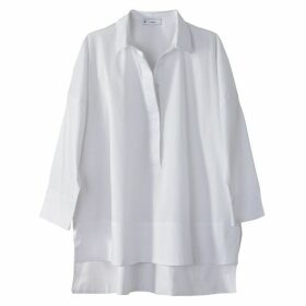 Cotton Drop Back Blouse